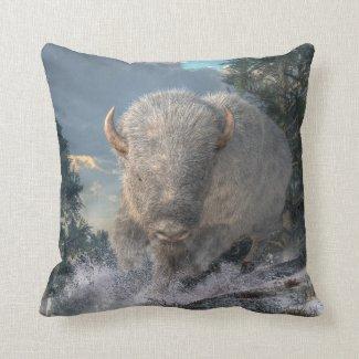 White Bison Pillow