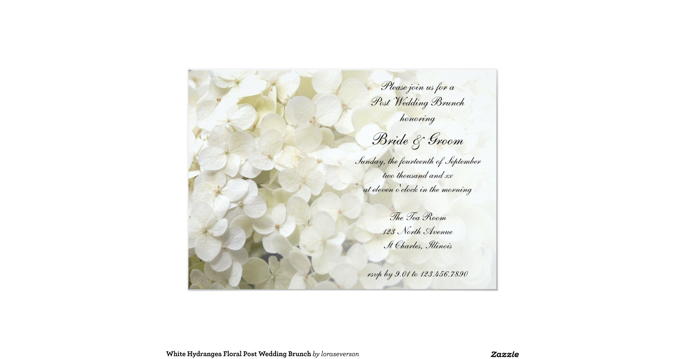 Post Wedding Brunch Invitation Wording: White_hydrangea_post_wedding_brunch_invitation