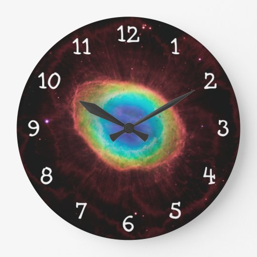 White Numbers Large Clock Zazzle