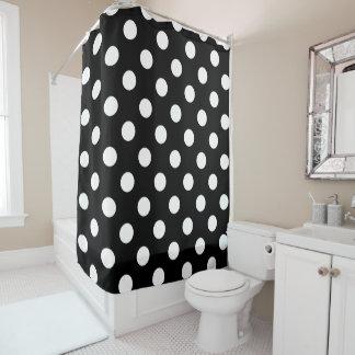 black and white polka dot shower curtains zazzle. Black Bedroom Furniture Sets. Home Design Ideas