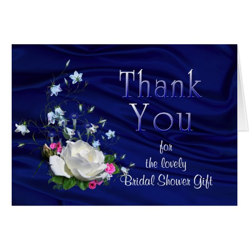 Thank You Note Wedding Gift: White Rose Bridal Shower Gift Thank You Card