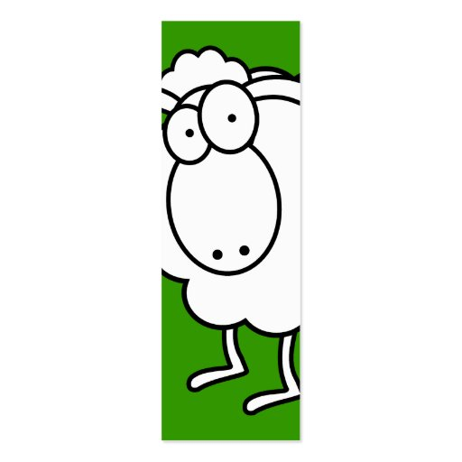White sheep bookmark double sided mini business cards for Double sided bookmark template