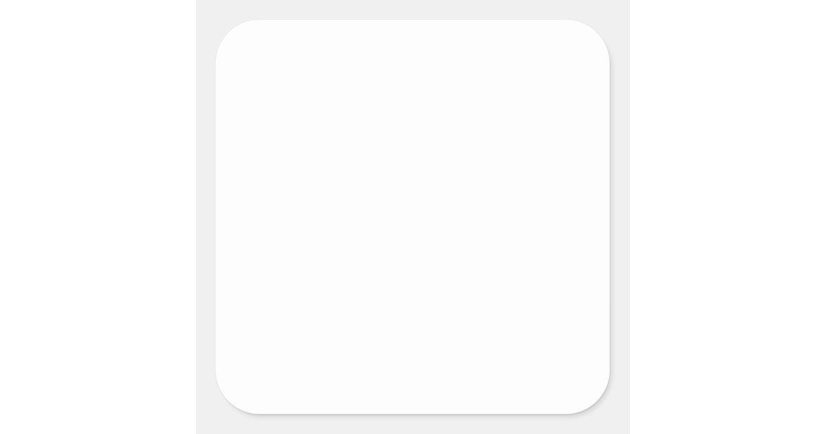 white template square sticker zazzle. Black Bedroom Furniture Sets. Home Design Ideas