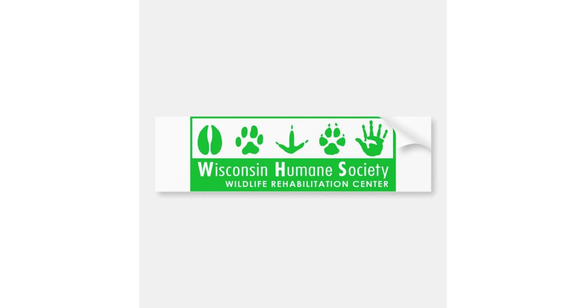 Wildlife Rehabilitation Center Logo Bumper Sticker | Zazzle