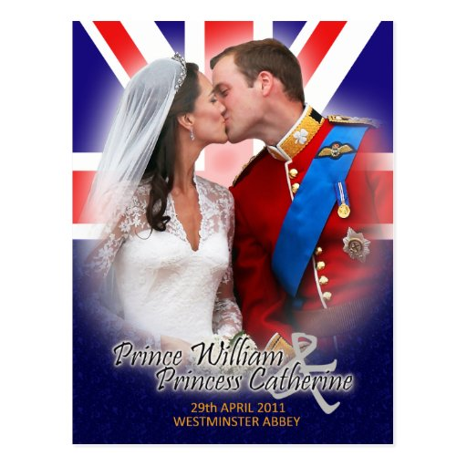 Gallery Royal Wedding Kisses: William & Kate Royal Wedding Kiss Postcard