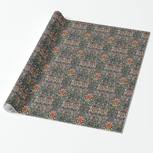 William Morris Design Wrapping Paper Zazzle