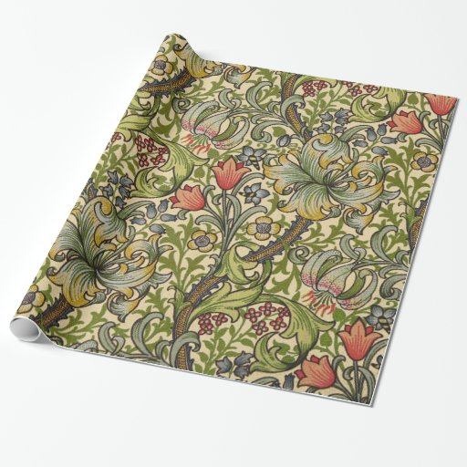 William Morris Golden Lily Wrapping Paper Zazzle