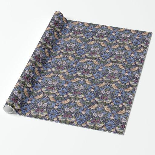 William Morris Strawberry Thief Wrapping Paper Zazzle