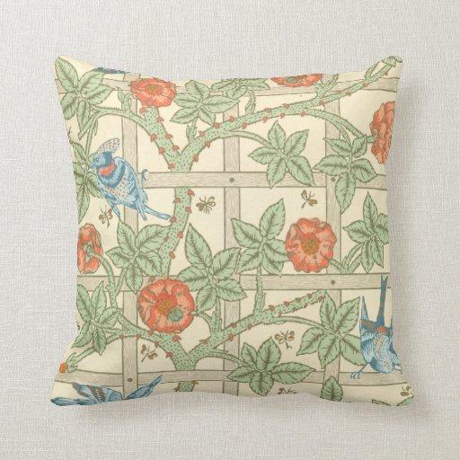 William Morris Trellis: William Morris Trellis Pattern Throw Pillow