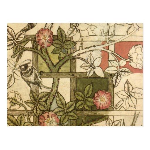 William Morris Trellis: William Morris - Trellis Postcard