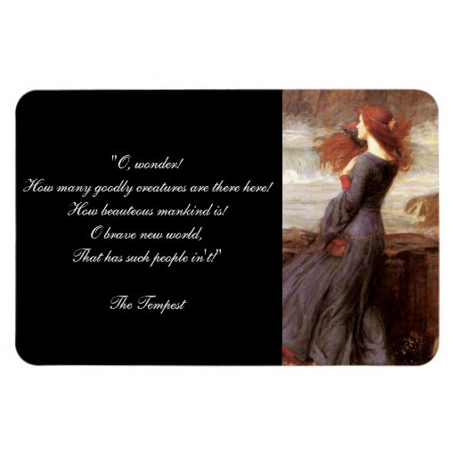 William Shakespeare's The Tempest Quote Magnets