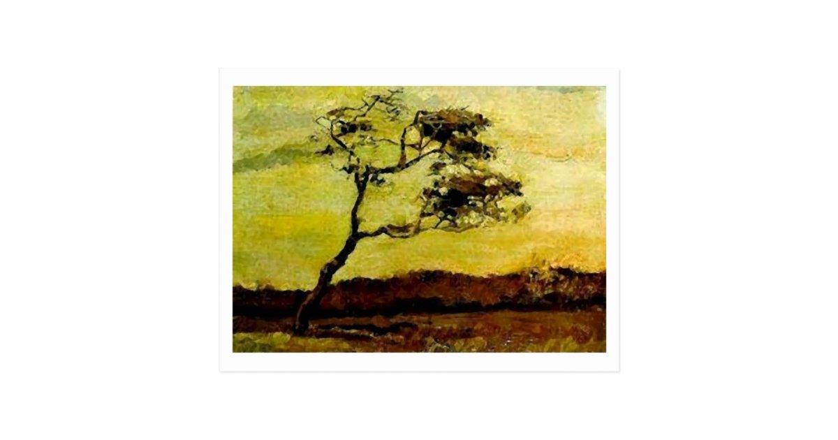 Wind-Beaten Tree, Vincent van Gogh Postcard | Zazzle