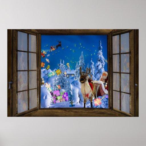 Window View Christmas Poster Zazzle