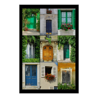 Windows And Doors Of France Print