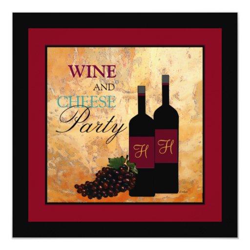 Wine and Cheese Party Invitation | Zazzle