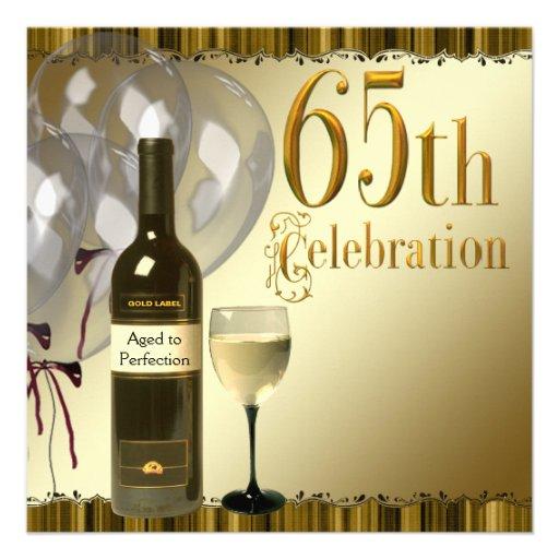 Mens 65th Birthday Party Invitation Templates