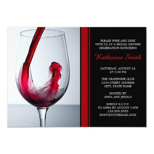 Wine Glass Bridal Shower Invitations - Custom