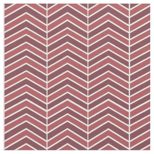 Wine Red Chevron Pattern Fabric | Zazzle
