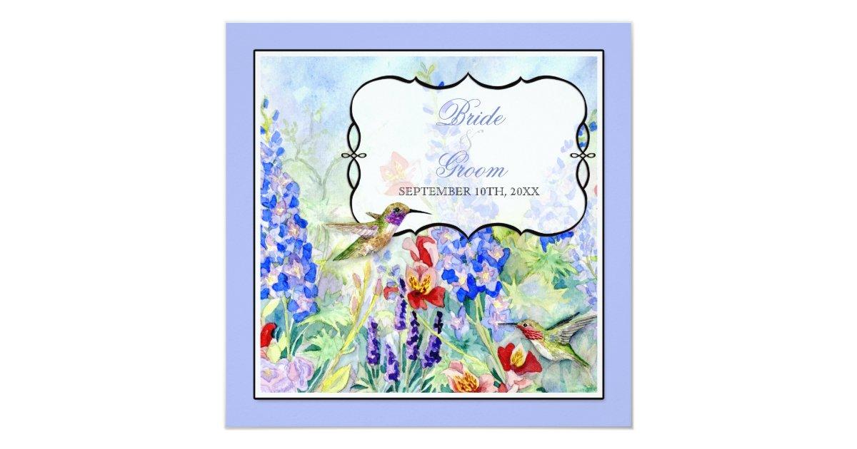 Hummingbird Wedding Invitations: Winged Jewels Hummingbirds - Wedding Invitation
