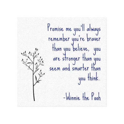 Winnie The Pooh Quote Art: Winnie The Pooh Quote Canvas Art Inspirational Art