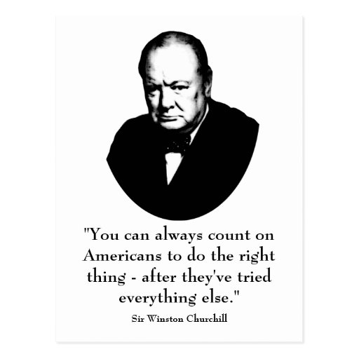 Funny Quotes Churchill: Winston Churchill And Funny Quote Postcard