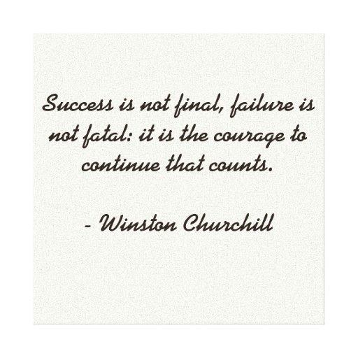 Winston Churchill Quotes Ugly: Winston Churchill Quote Canvas Print
