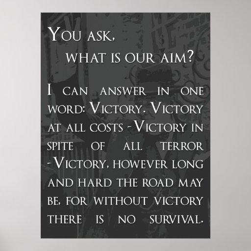 Winston Churchill Victory Quote
