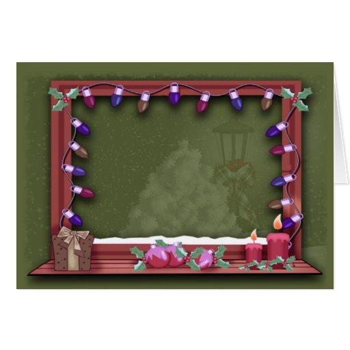 Winter Christmas Window Lights Photo Insert Card