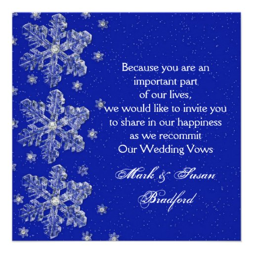 Wedding Vow Renewal Invitations: Winter Wedding Vow Renewal Inviation
