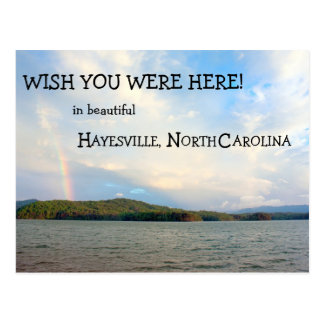 Wish you were here in hayesville north carolina post cards for Wish you were here postcard template