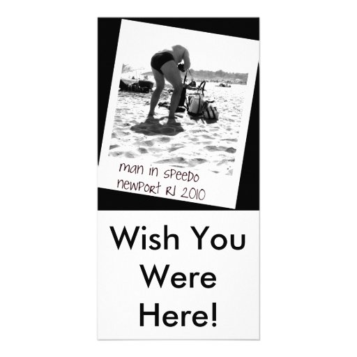 Wish you were here photo card zazzle for Wish you were here postcard template