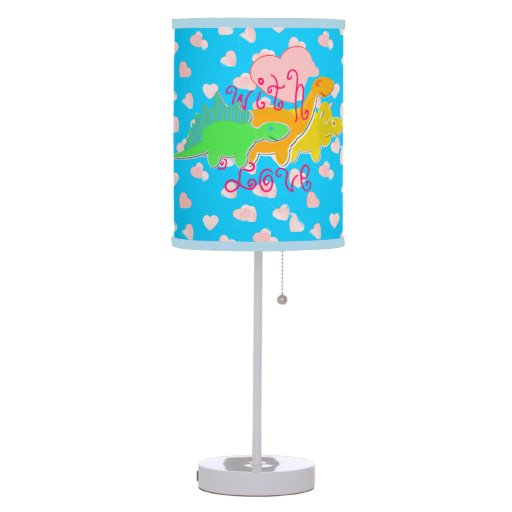 Girly Lamps For Bedroom: With Love Hearts Cute Girly Dinosaurs Lamps