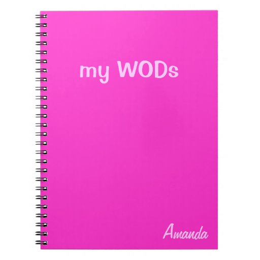 Wod journal hot pink zazzle for Wod journal template