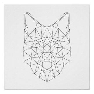 Wolf Head Posters | Zazzle
