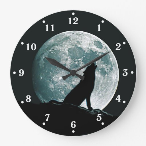 Wolf Howling Wildlife Wall Clock Zazzle
