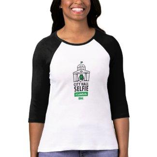 Women's 3/4 Length Sleeve #CityHallSelfie Shirt