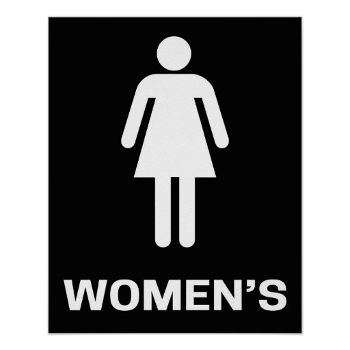 Women's Bathroom Sign Modern Poster | Zazzle