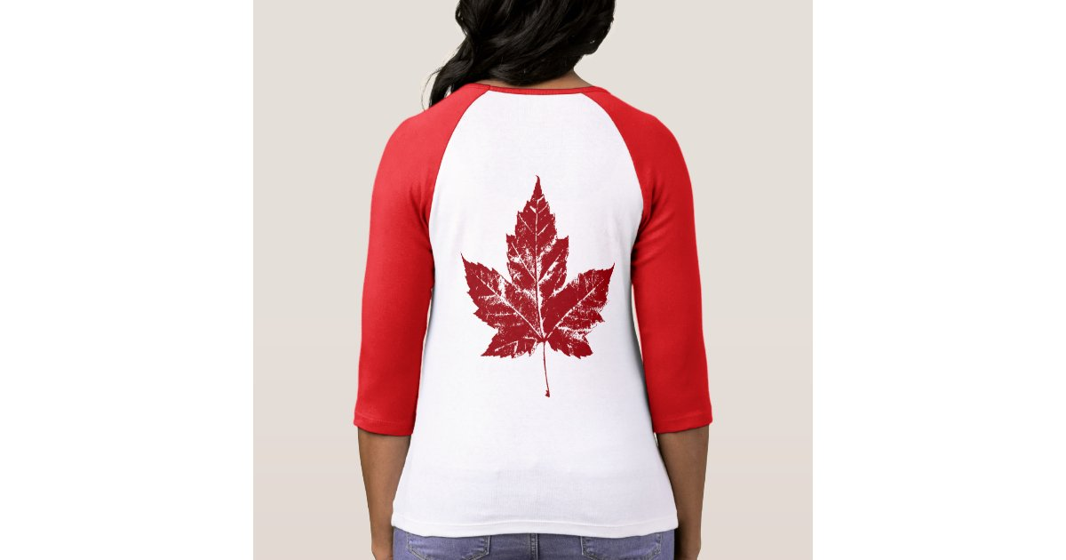 Women's Canada Baseball Jersey Plus Size Shirt