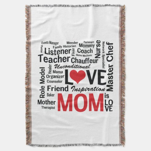 Wonderful Do-It-All Mom - Mother's Day or Birthday Throw Blanket