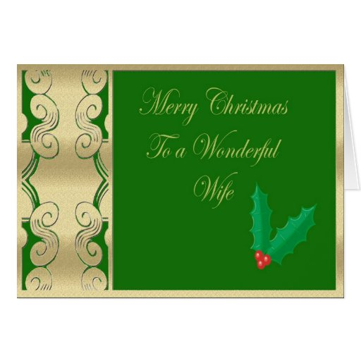 Wonderful Wife Merry Christmas Greeting Cards