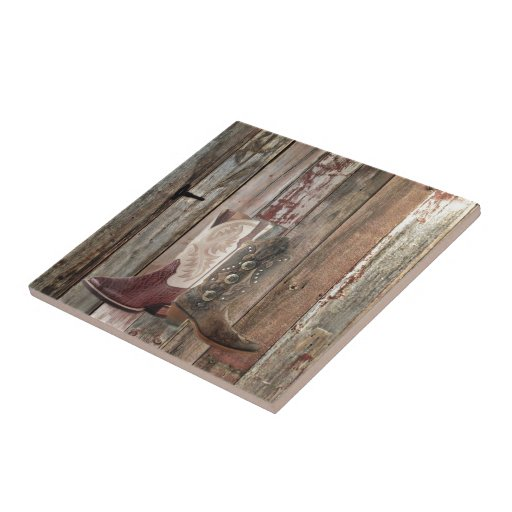 wood texture cowboy boots western barn wood ceramic tile ...