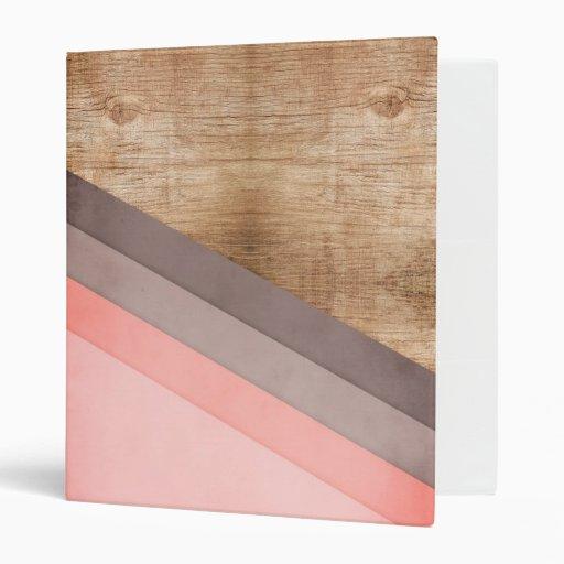 Wooden Geometric Art 3 Ring Binder