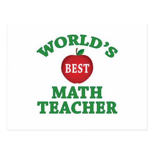 world's best math teacher postcard  zazzle