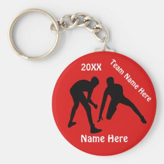 Wrestling Gifts Your NAME, TEAM, COLORS and YEAR Keychain