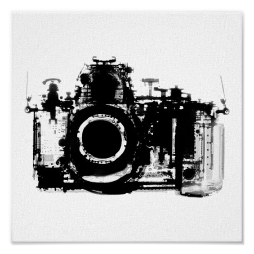 x ray vision camera black white posters. Black Bedroom Furniture Sets. Home Design Ideas