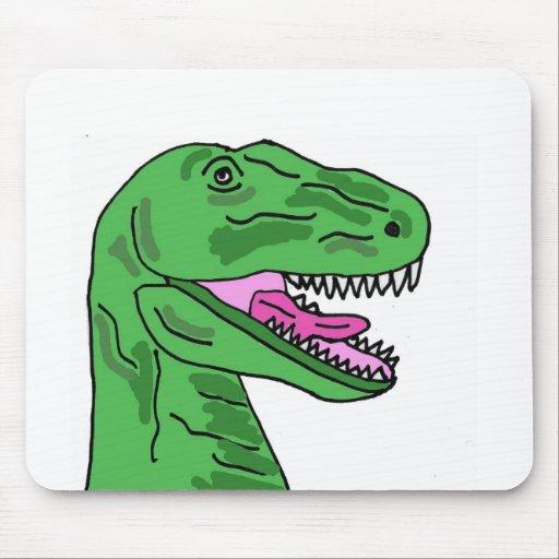 XX- Funny T-Rex Dinosaur Cartoon Mouse Pad | Zazzle