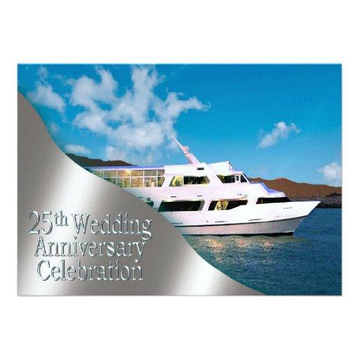 Personalized Silver 25th Wedding Anniversary Invitations