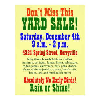 70 Yard Sale Flyers Flyer Templates And Printing Zazzle