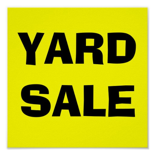 YARD SALE-Poster Sign | Zazzle