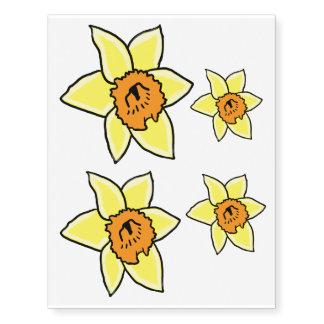 Daffodil Temporary Tattoos   ZazzleYellow Daffodil Tattoo